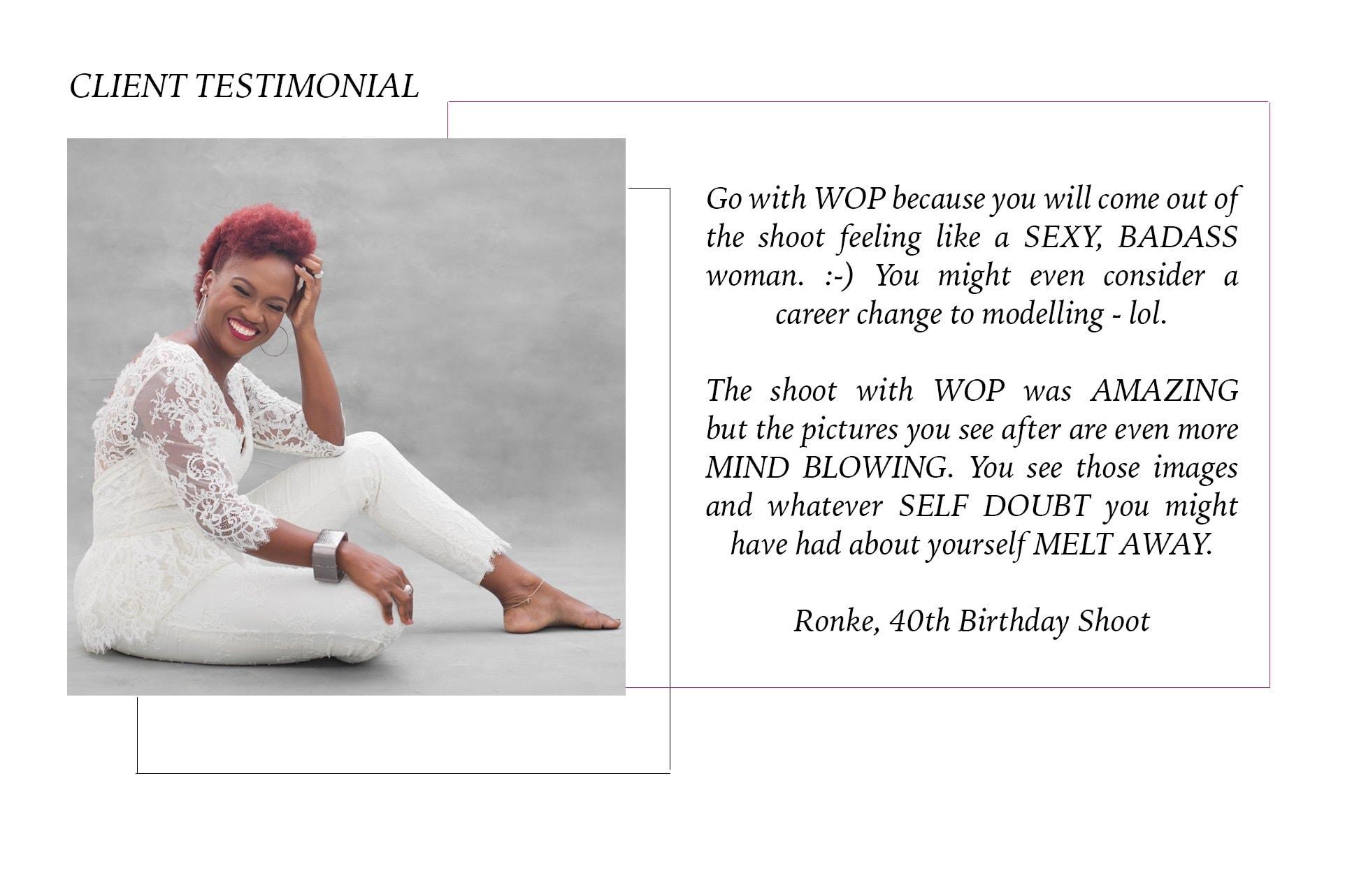 Client Testimonial Feedback Wani Olatunde Portraits