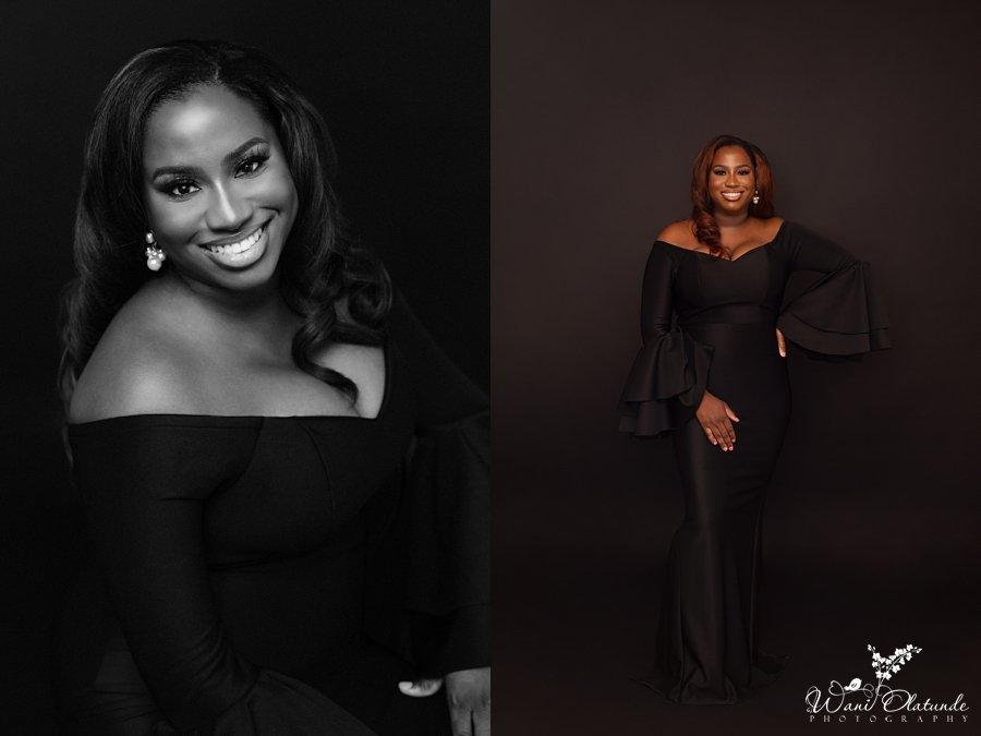 birthday photoshoot black dress_Wani Olatunde