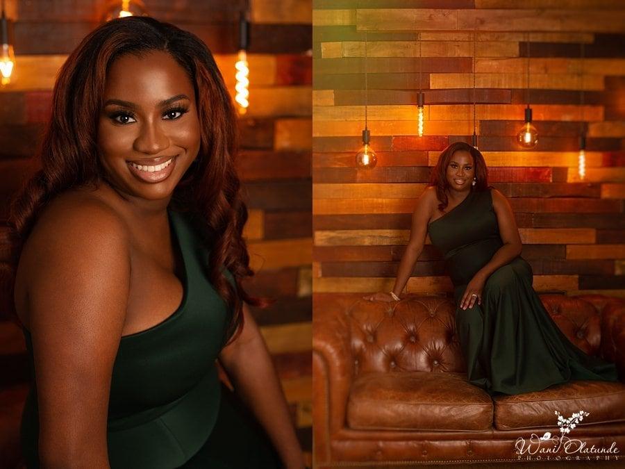 birthday photoshoot green dress_Wani Olatunde