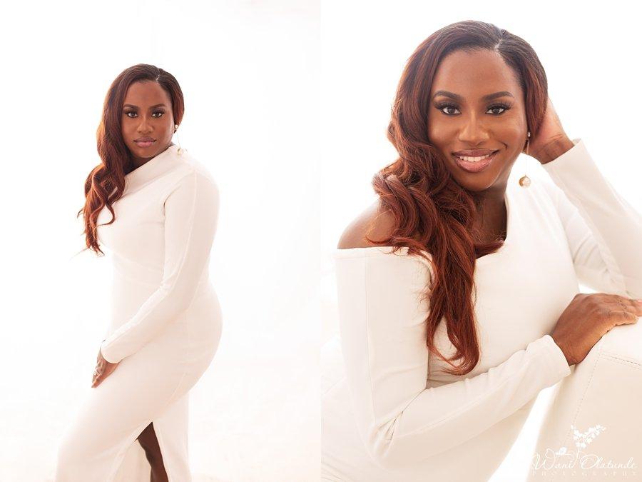 40th birthday photoshoot white outfit Milton Keynes_Wani Olatunde